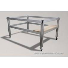 Aluminum Machine Stand w/ Shelf